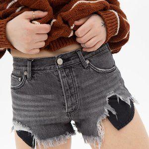 Free People Gray Denim Shorts